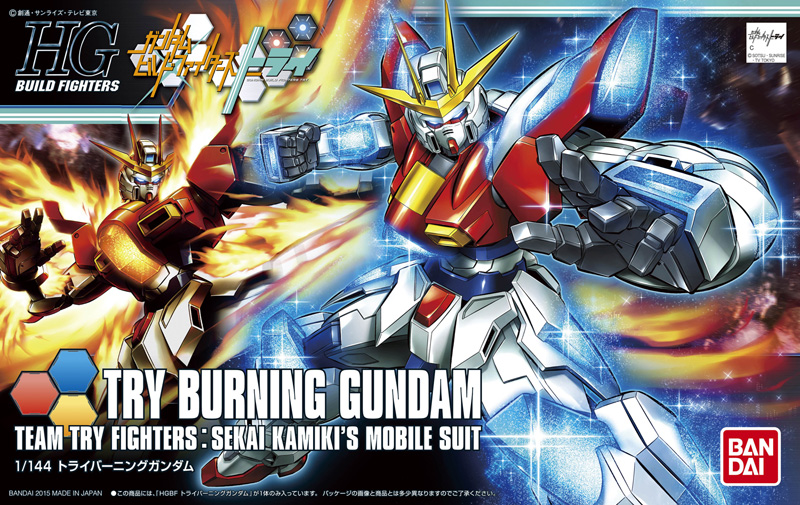 1PCS Bandai HG Build Fighters HGBF 028 1/144 Try Burning Gundam Mobile Suit Assembly Model Kits Anime action figure Gunpla стоимость