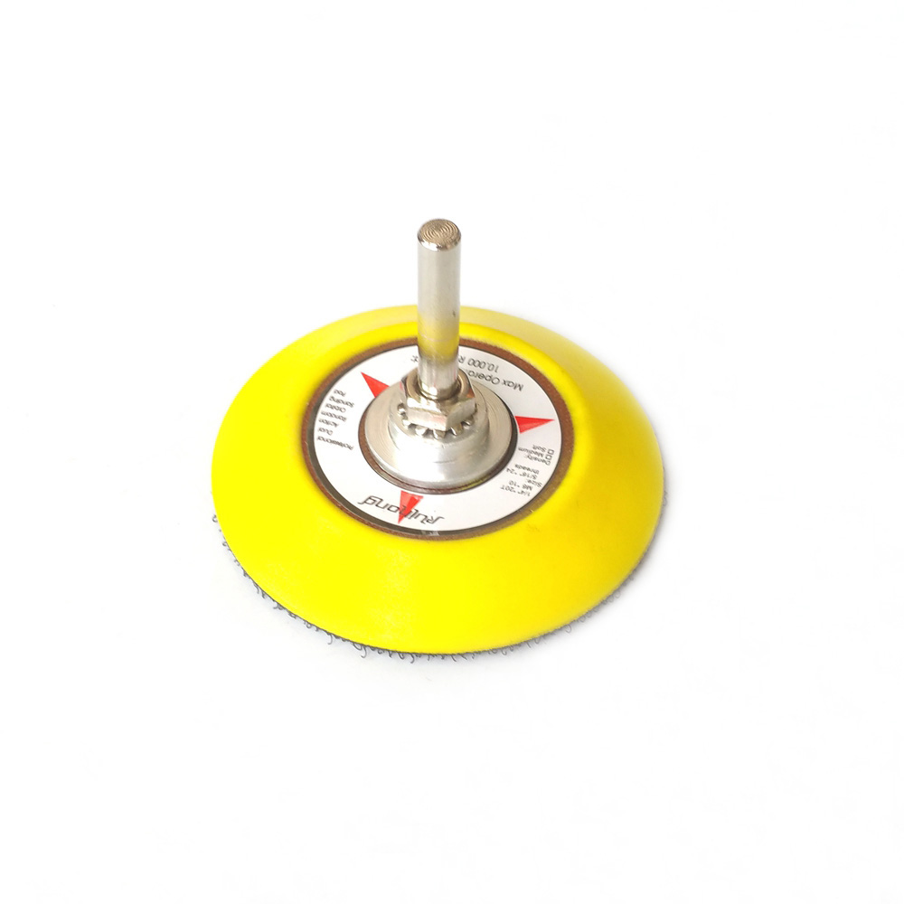 """Image 2 - 1 piece 3"""" / 2"""" Back up Pad Nozzle for Drill Hook & Loop Sanding Disc Air Sander Die Grinder Accessories-in Abrasive Tools from Tools"""