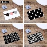 Noir et blanc géométrique créative pad simple motif couloir chambre salon table basse tapis cuisine salle de bain tapis