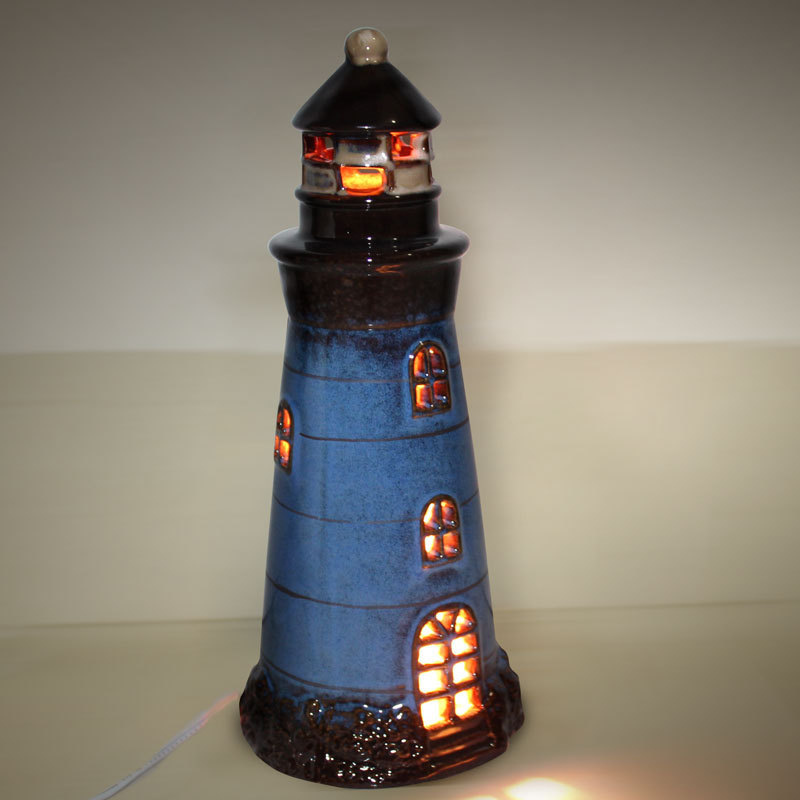 Brand New Handmade Mediterranean Lighthouse Modern Night Light Table Lamp  Ceramic Decoration Gift For Kids Christmas Present In Night Lights From  Lights ...