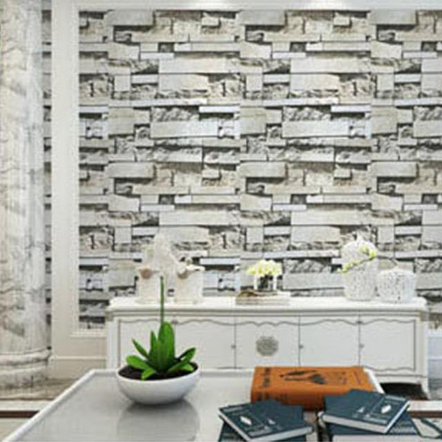 vintage wallpaper brick vinyl wall sticker roll bar restaurant