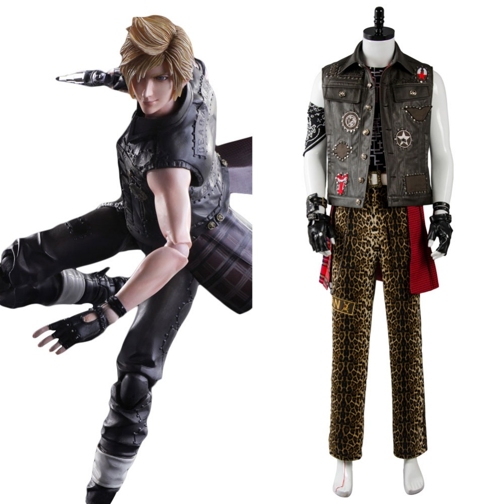 High quality New Final Fantasy XV Prompto Argentum Cosplay Costume Carnival Halloween Costume Custom-Made Any Size Full Set
