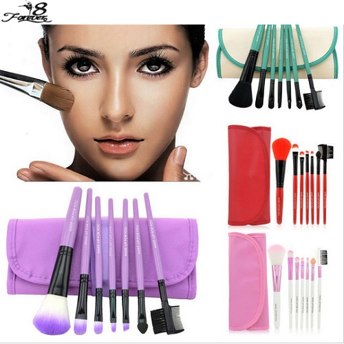 1 set Professional Soft Cosmetic Makeup Brushes pinceaux maquiagem Set Blush + 1 x Pouch Bag Case