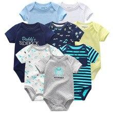 kiddiezoom 8 PCS/lot newborn baby bodysuits short sleevele