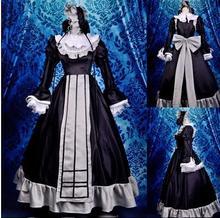 Gothic lolita traje de mucama vestido medieval renacimiento vestido GOSICK Victorique De Blois cosplay para las mujeres vestidos de fiesta