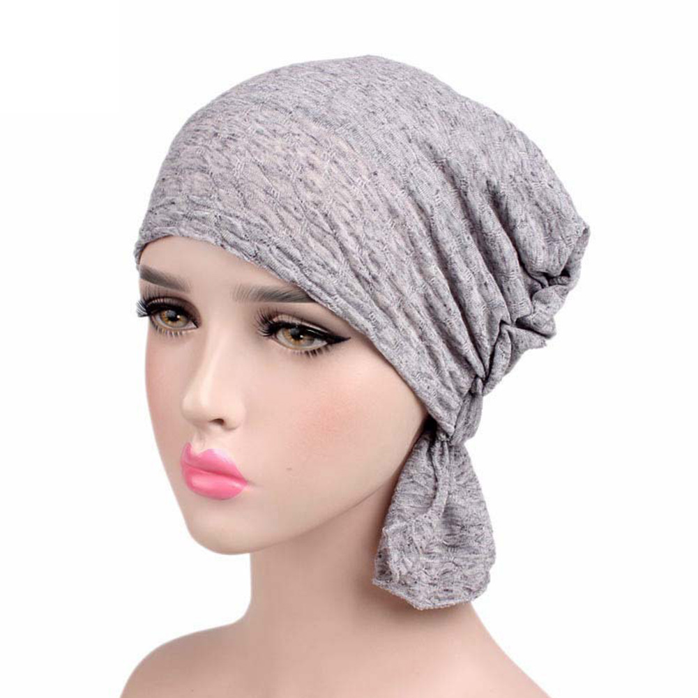 Ladies Cotton Stretch Muslim Gift Women Hat Chemo Cap Knitted Soft Hair Loss Hijab Turban   Scarf     Wrap