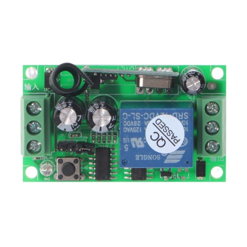 OOTDTY 3000m Long Range DC 12V 1CH RF Wireless Remote Control Switch System  315 Mhz 1-Key Transmitter + Receiver