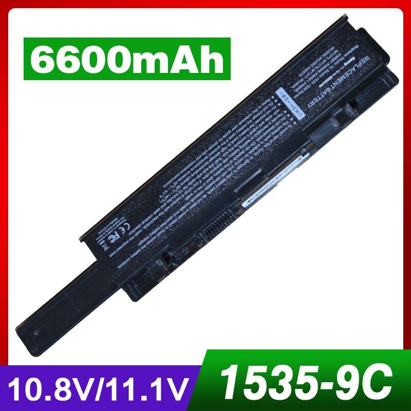 6600mAh laptop battery for Dell Studio 1535 1536 1537 1555 1557 1558 for dell KM958 KM965 MT264 WU946 312-0701 312-0702 wzsm wholesale new lcd flex video cable for dell studio 1555 1557 1558 pp39l laptop lvds cable p n 0w439j 0w805m