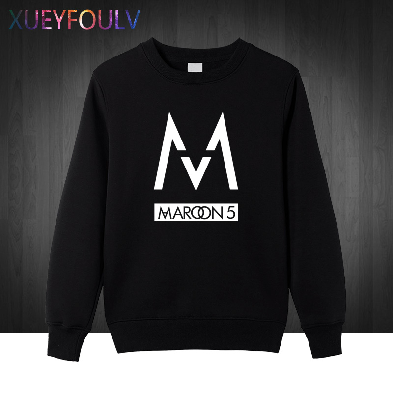 Winter Autumn Free Shipping mens Sweatshirts fashion 2018 band Maroons 5 men Hoodies rock band Pullover hip hop cotton