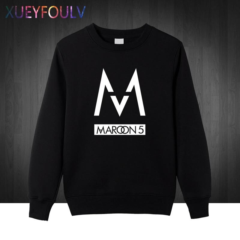 Winter Autumn Free Shipping mens Sweatshirts fashion 2018 band Maroons 5 men Hoodies rock band Pullover hip hop cotton