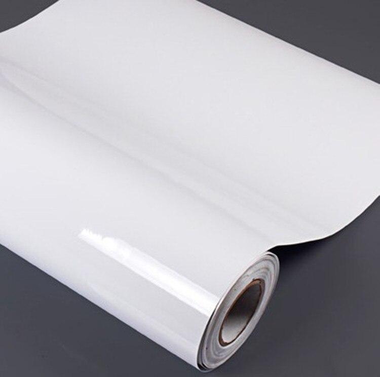 Blanc haute brillance armoires de cuisine peinture de meubles imperméable papier peint armoire bureau décoration auto-bâton autocollants pvc papier peint