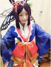 Мобильная игра заклинатель Бабочка Костюм Феи Хэллоуин Детский костюм для вечеринок платье для Карнавальная одежда