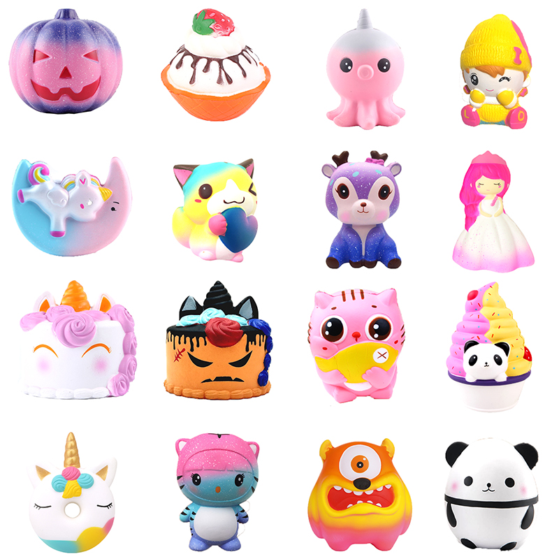 Squishy Toy Cute Kawaii Cartoon Deer big Squishies cat cake Toys Slow Rising Cream Scented Squeeze Toys Novelty Antistress Gift ремень versace jeans versace jeans ve006dmbuzo9