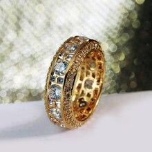 Кольца на удачу золотистые кольца 5678910 высокого качества