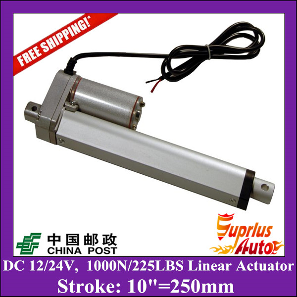Free Delivery DC 12V/24V 10inch/250mm linear actuator with mounting brackets, 1000N/100kgs load linear actuators for window free shipping dc 12v 24v 9inch 225mm linear actuator 1000n 100kgs load electric linear actuator with mounting brackets