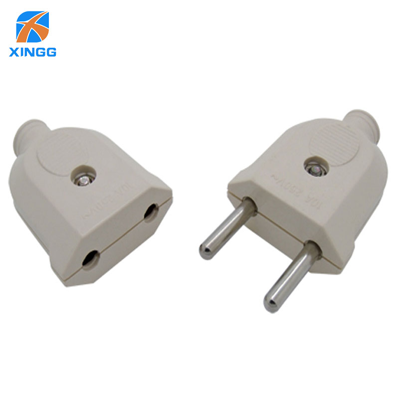 2 Pin EU Plug Male Female electronic Connector Socket Wiring Power ...