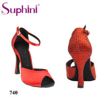 Free Shipping 2017 Suphini Top Selling Latin Shoes Classic Lady Salsa Shoes Woman Crystal Latin Dance