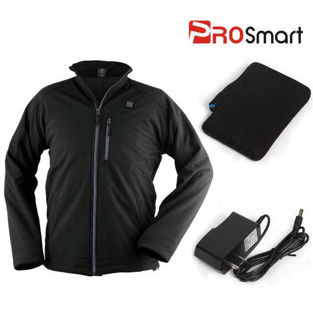 Battery Heated Clothing >> Prosmart Hj 27 50 Men S Cordless 12volt Battery Heated Jacket Black