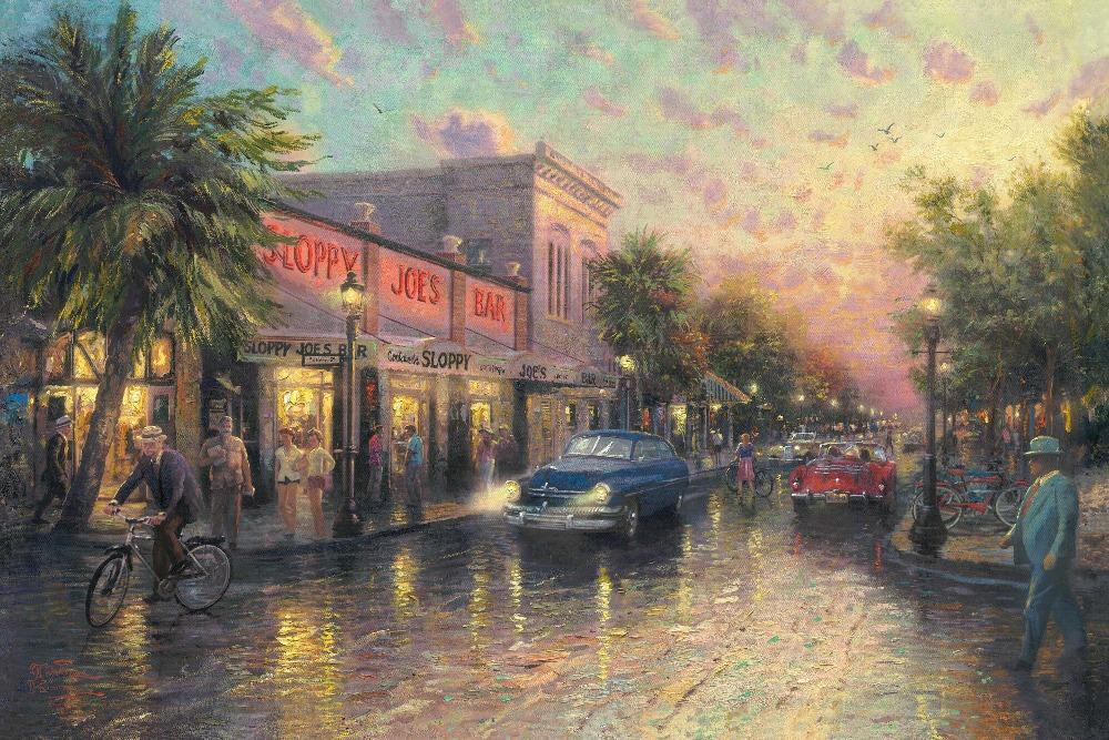 Thomas Kinkade Key West Ernest Hemingway Poster Home Decor Wall Sticker 4 Sizes Free