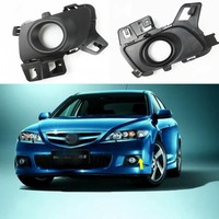 JanDeNing 1 Pair For Mazda 6 Coupe 2011 2012 Front Bumper Fog/Driving Lamp Cover Black Trim