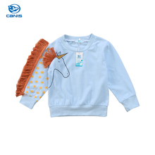 2017 Brand New Toddler Infant Child Baby Girl Kids Unicorn T-Shirt Clothes Tassel Cartoon Sweater Sweatshirt Long Sleeve Hoodie