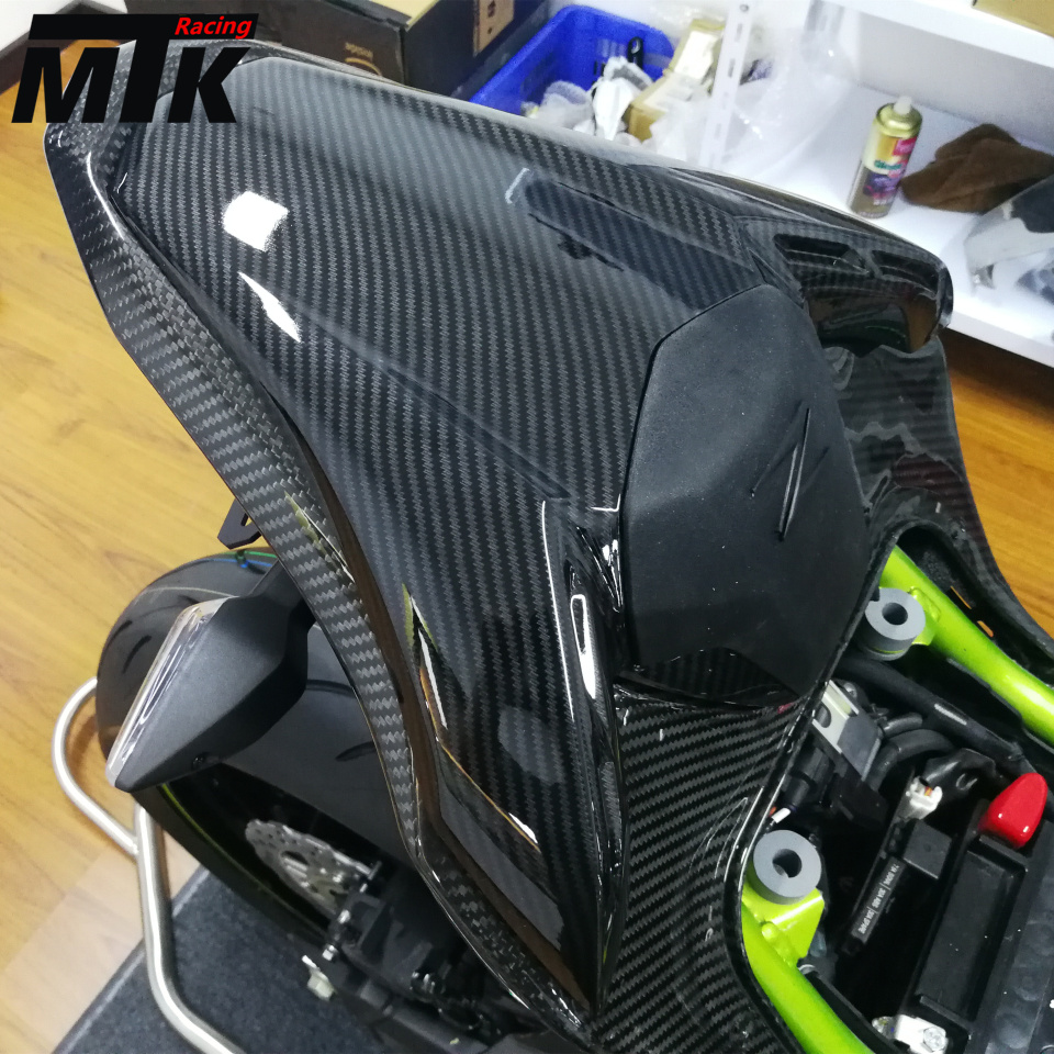 MTKRACING For kawasaki z900 2017 Motorcycle accessories Rear Seat Cover Cowl Fairing for ktm 390 duke motorcycle leather pillon passenger rear seat black color
