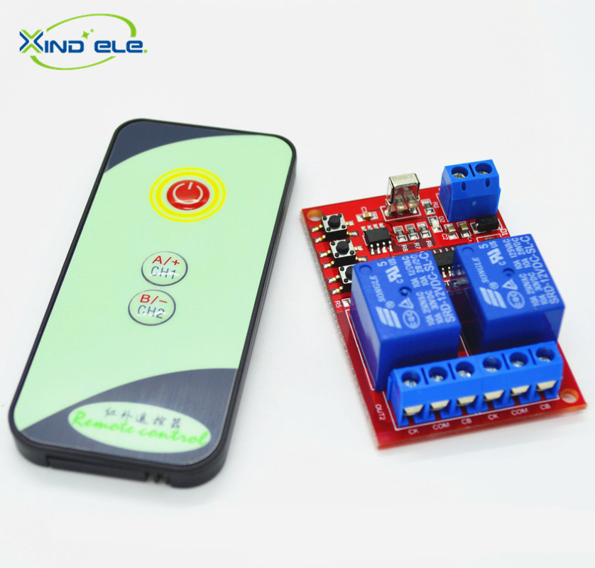 XIND ELE 2 way 12V DC IR Remote Control Learn Light Switch Module + 3-key Transmitter For Home Auto Garage Door #IR12-2LM+PM3# майка классическая printio killer