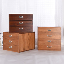 Office desk, solid wood storage box, cosmetic drawer type wooden A4 storage cabinet, super sundries storage box creative desktop cosmetic storage box solid wood storage cabinet wooden desk drawer storage box rack