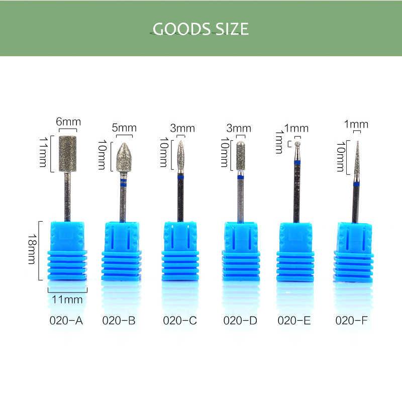 6 tip Küresel elmas tırnak süsü Dosya Matkap Ucu Freze Manikür Pedikür için Kesici elektrikli makine Cihazı Aracı Tırnak Aksesuarları Fabrikaları