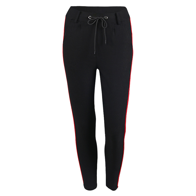 HTB1GKbCbvBNTKJjy0Fdq6APpVXai - FREE SHIPPING High Waist Knit Red Striped Sideseam Sweatpants JKP257