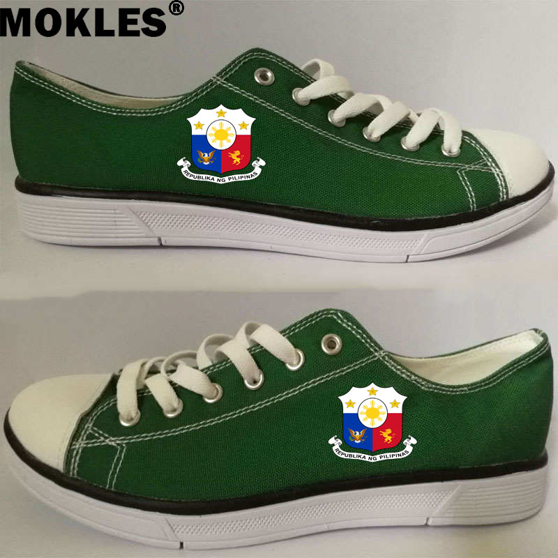 PHILIPPINES men s shoes diy free custom photo number phl couple shoes nation flag ph republic pilipinas filipino casual shoes