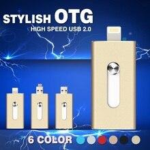 2016 i-flashdrive hd u disco 8 gb 16 gb 32 gb 64 gb de metal pendrive usb otg unidad flash para iphone 5/5s/5c/6/6 plus/ipad memory stick