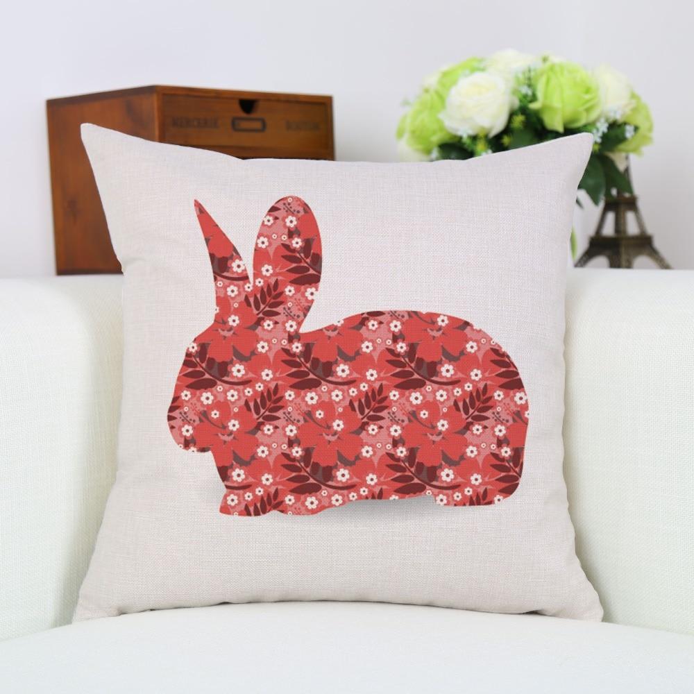 45 * 45см мультфильм Rabbit жастығы - Үй тоқыма - фото 2