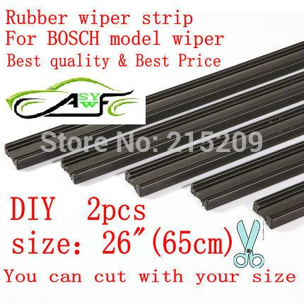 "Gratis levering Auto Car Vehicle Insert Rubber strip Wiper Blade (Refill) 6mm Soft 26 ""650mm 2pcs / lot biltilbehør"