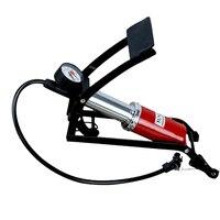 Bicycle MTB Bike Pump Aluminum Alloy Foot High Pressure Tire Air Inflatable Inflator Car Motorcycle With Pressure Gauge PA0119
