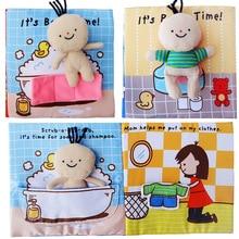 Мягкие 3D Детские Книги Ткань ванны горшок для раннего познавательное развитие тихие книги детские развивающие разворачивание деятельности книги