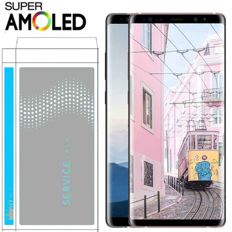 ORIGINAL 6 3 SUPER AMOLED LCD with frame for SAMSUNG GALAXY Note 8 Note8 Display Touch
