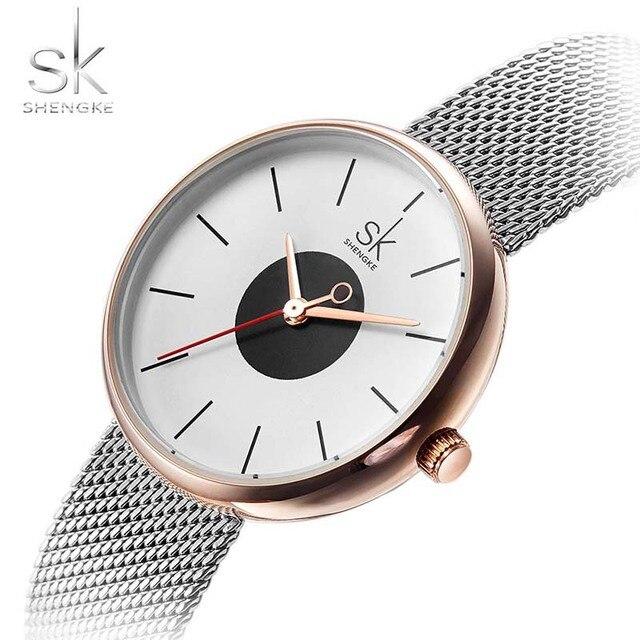 640e915f4 Watches Women SK New Fashion Brand Causal Wrist Watches Women Stainless  Steel Mesh Quartz Clock Ladies Wristwatch Relojes Mujer