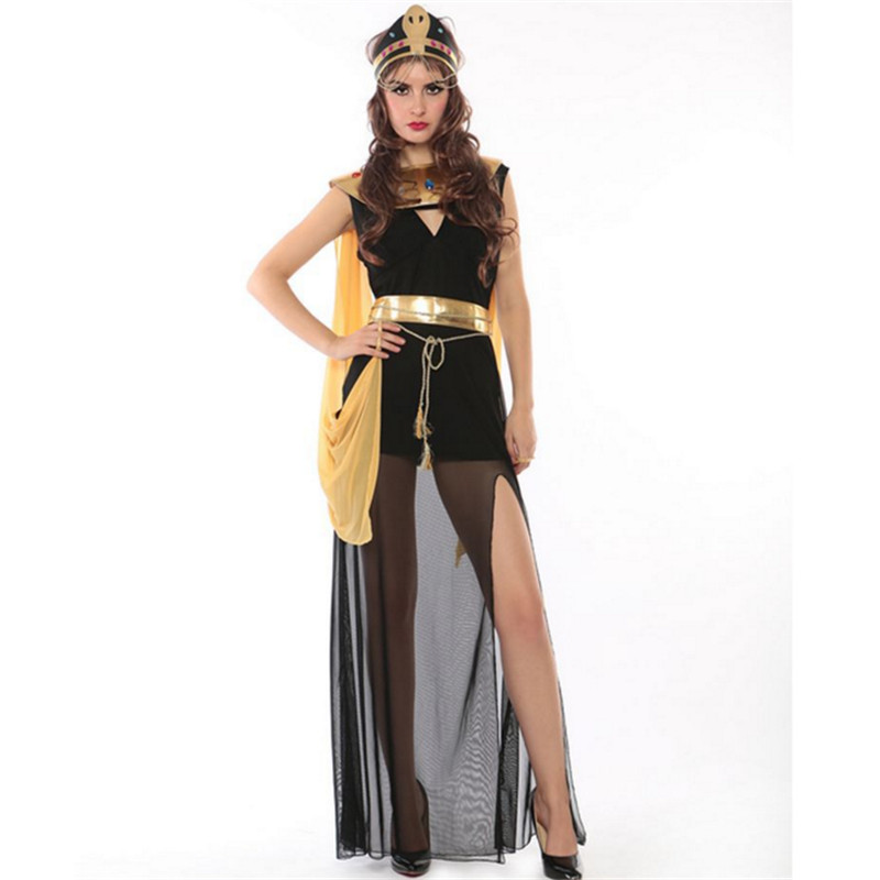 high quality cleopatra clothing Greek Goddess Cosplay Athena Egypt queen Party Dress Roman Princess Costume Halloween for Women