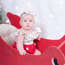 Kid Baby Girl Xmas Clothes Deer Cartoon Dress For 12M-5T