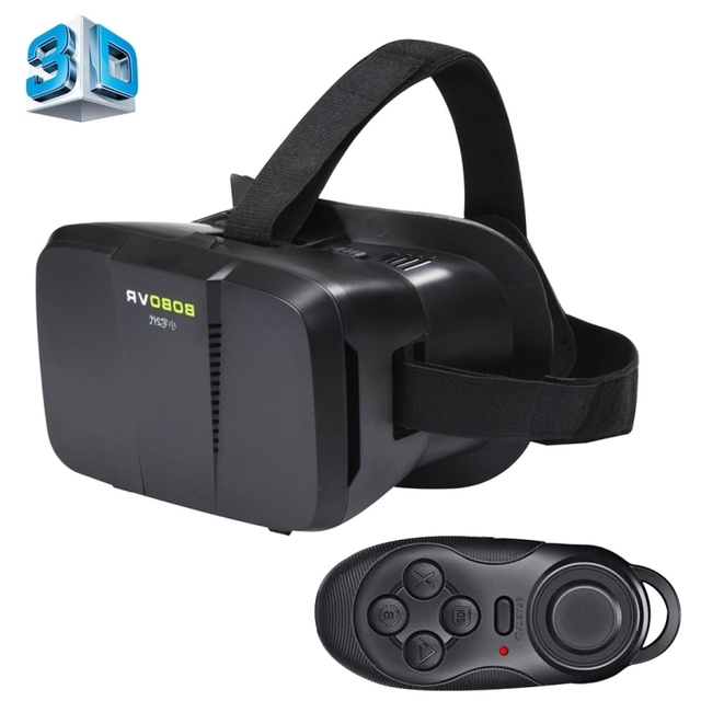 BOBO II Universal Virtual Reality 3D Video Glasses with Bluetooth Remote Controller for 4 to 6 inch Smartphones