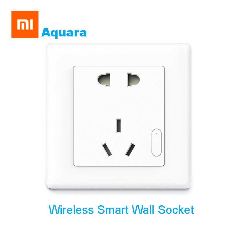Xiaomi Aqara inteligentny gniazdo ścienne bezprzewodowy pilot zdalnego sterowania Auto inteligentny przełącznik bezprzewodowy urządzenie domowe praca dla Xiaomi inteligentne zestawy do domu