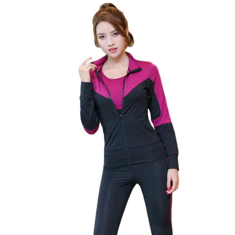 Womens Professional Sports Sets Running Fitness Sportswear Quick-drying High Elastic Sport Suits Women Tracksuit 8041