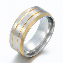 Women's Men's Creative Style Titanium Steel 3 Circles Frosted Wide Band Ring