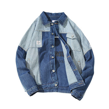 2018New Men's  Jacket Male Tide Big Yards Jeans Jacket Size M-2XL.