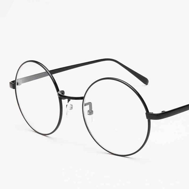 5cfb71c4fae Unisex Retro Round Circle Metal Frame Eyeglasses Original Clear Lens Eye  Glasses 2 Styles For Men Women
