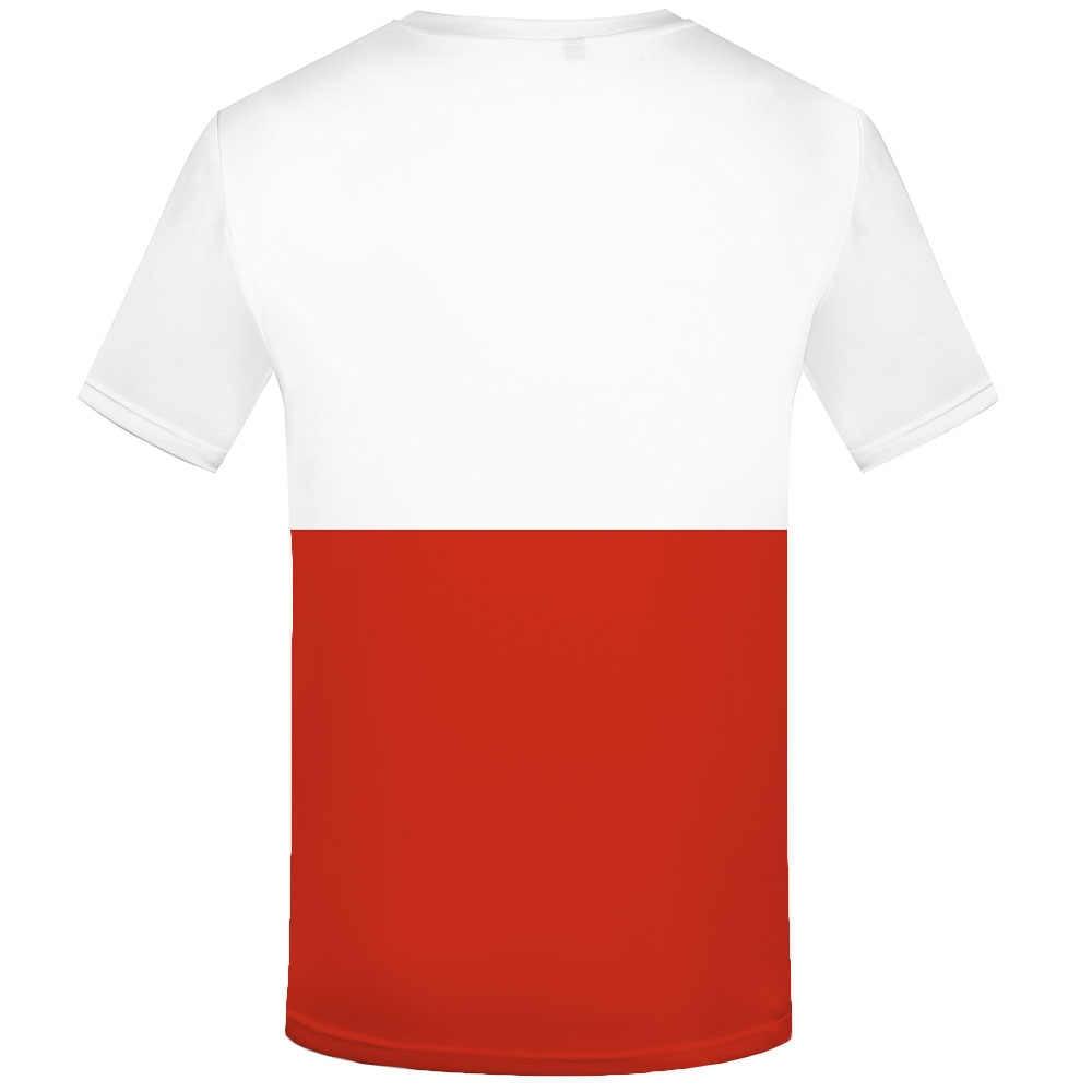 KYKU ポーランド国旗 Tシャツポーランド Tシャツプリント原宿アニメ服白シャツプリントゴシック Tシャツカジュアルメンズ服