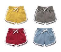 Для маленьких мальчиков летние штаны детей натуральный хлопок Шорты для женщин Девушка Лето Детские пляжные Брюки для девочек мальчик Акти...