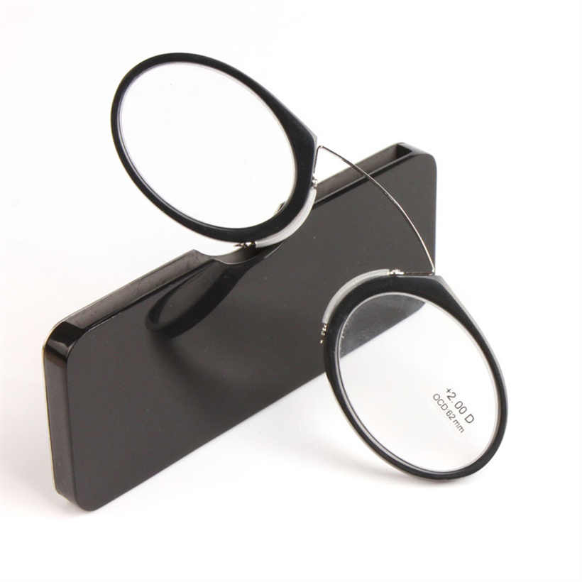 KUJUNY Manyetik okuma gözlüğü Erkekler Kadınlar burun mandalı Gözlük Gözlük Erkek Presbiyopik Gözlük Diyoptri 1.0 1.5 2.0 2.5 3.0 3.5