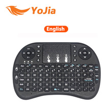 Английский Литий-Ионная Аккумуляторная батарея Версия i8 i8 мини-клавиатура + Air Mouse Remote Control Тачпад Handheld для ТВ BOX Ноутбуков Tablet